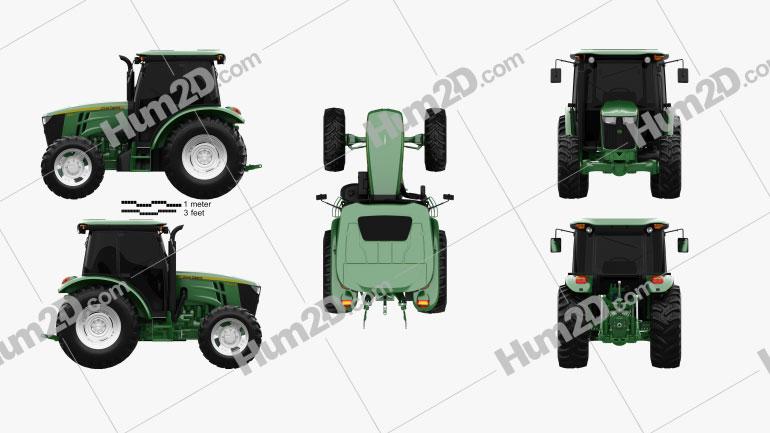 John Deere 5100M Utility Tractor 2013 Tractor clipart