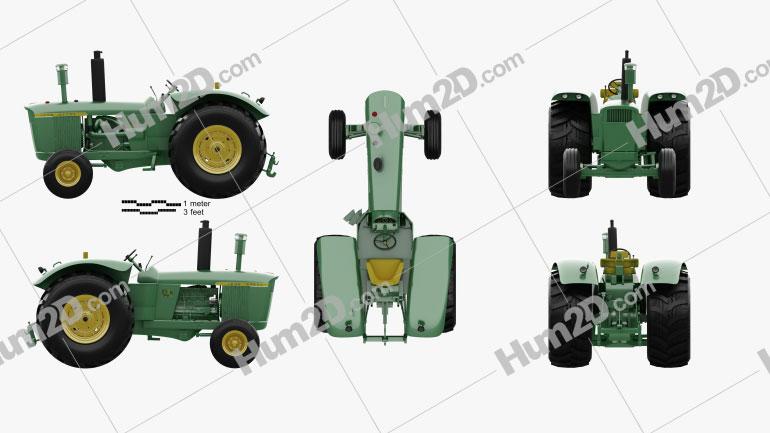 John Deere 5010 1963 Tractor clipart