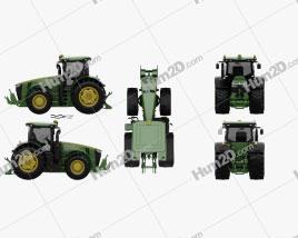 John Deere 8360R Tractor 2012 Clipart