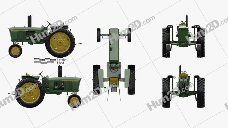 John Deere 2520 2012 Tractor clipart