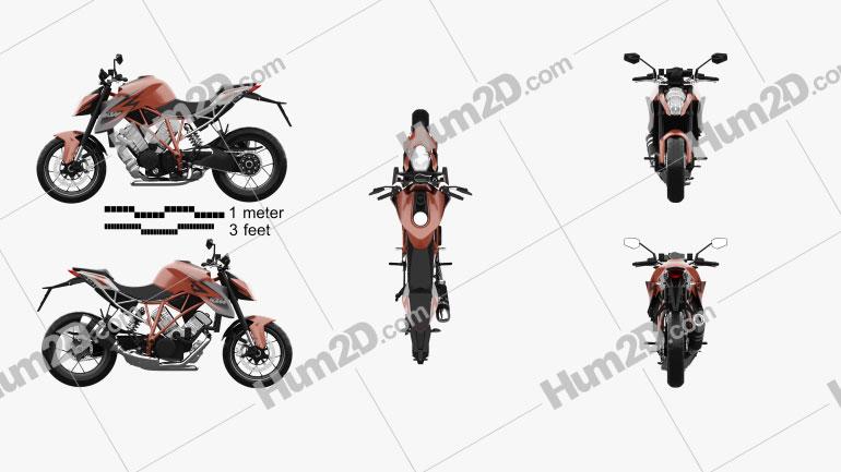 KTM 1290 Super Duke R 2014 Motorcycle clipart