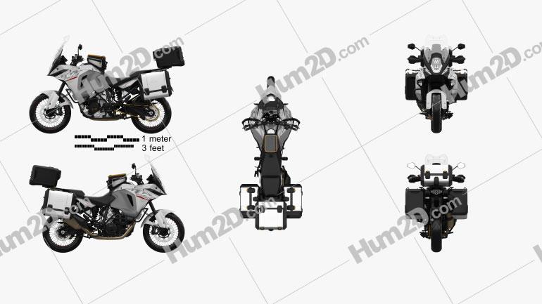 KTM 1290 Super Adventure 2015 Motorcycle clipart