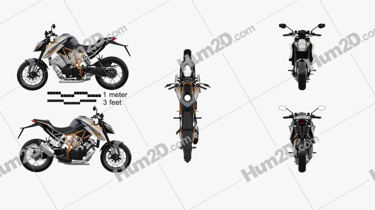 KTM 1290 Super Duke R 2015 Motorcycle clipart