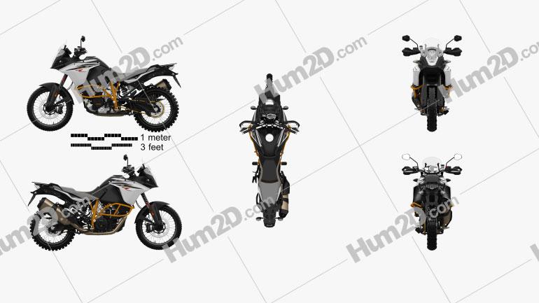 KTM 1090 Adventure R 2017 Motorcycle clipart