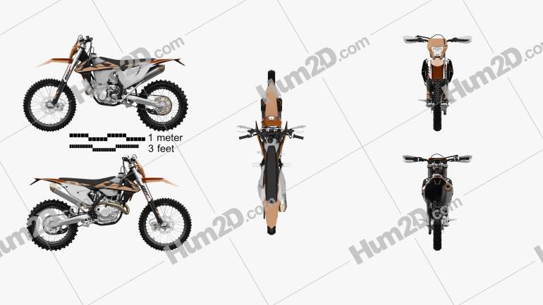 KTM 450 EXC-F 2017 Motorrad clipart