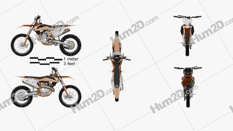 KTM 450 SX-F 2017 Motorrad clipart