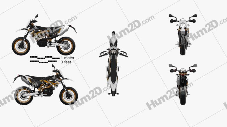 KTM 690 SMC R 2017 Motorcycle clipart