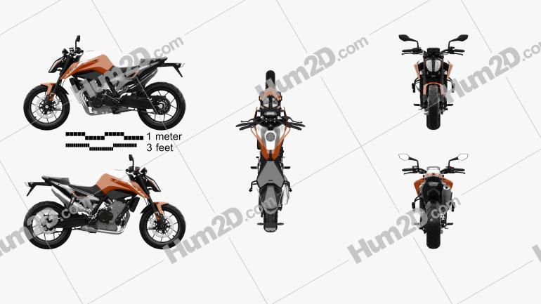 KTM 790 Duke 2018 Motorcycle clipart
