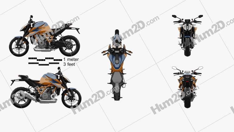 KTM 1290 Super Duke R 2020 Motorcycle clipart