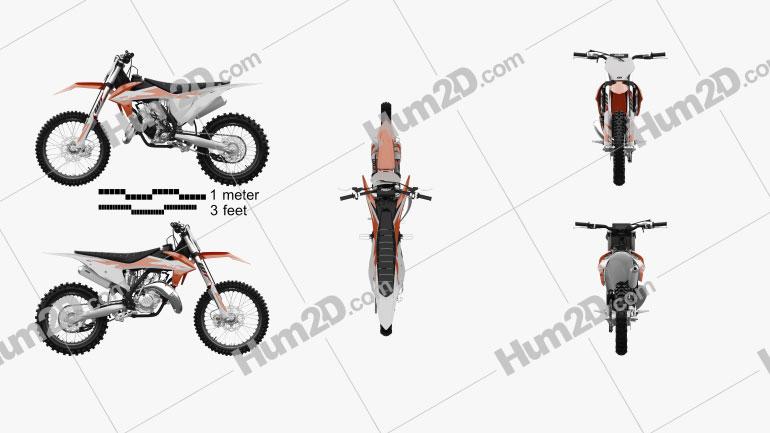 KTM 150 SX 2020 Clipart Image