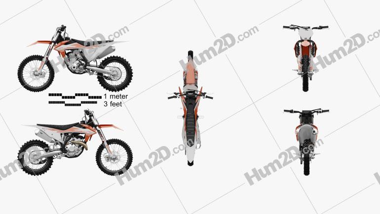 KTM 350 SX-F 2020 Moto clipart
