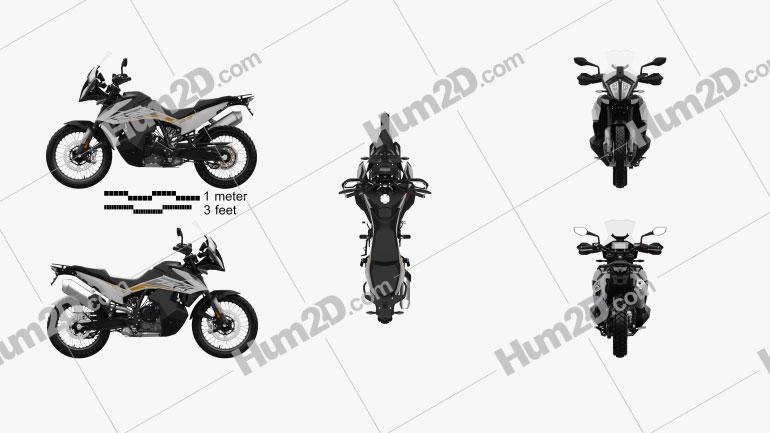KTM 790 Adventure 2019 Clipart Bild