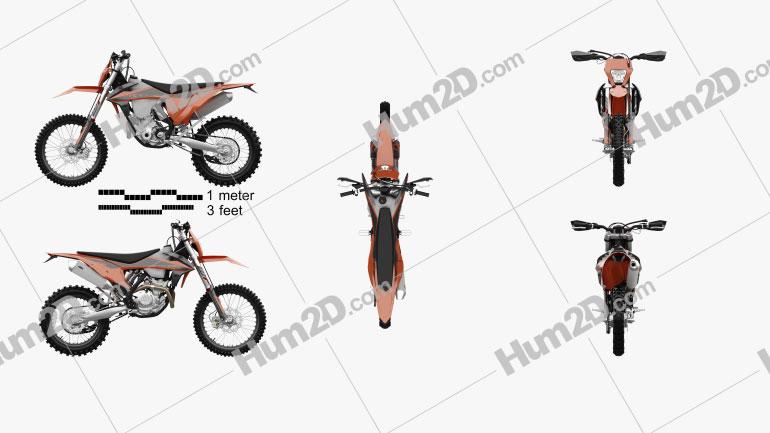 KTM 350 EXC-F 2020 Clipart Image