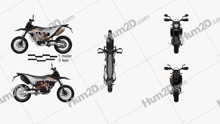 KTM 690 SMC R 2020 Motorcycle clipart
