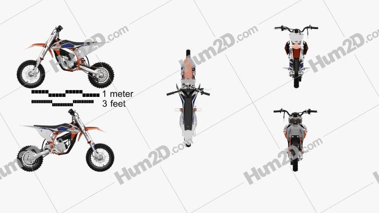 KTM Elektro SX-50E 2020 Motorcycle clipart