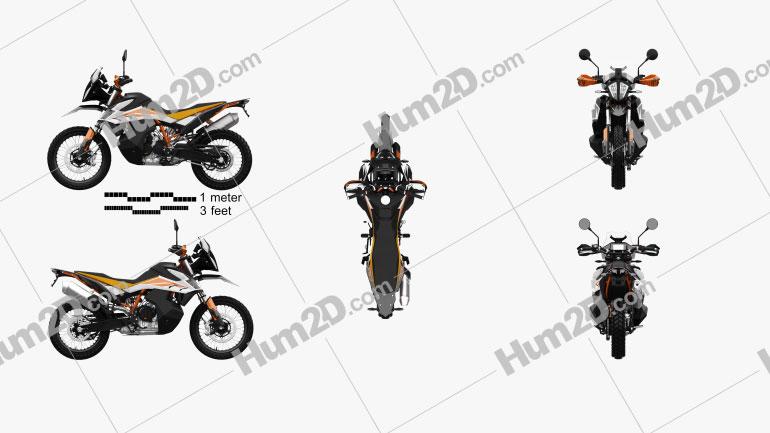 KTM 790 Adventure R 2020 Motorcycle clipart