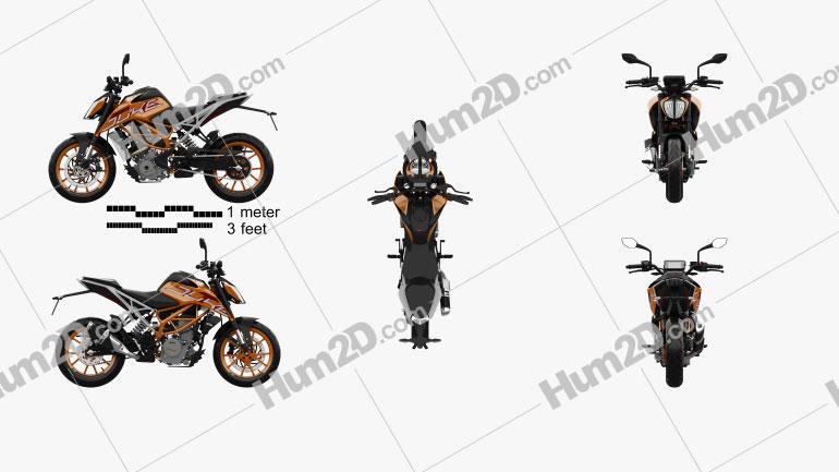 KTM 390 Duke 2020 Motorcycle clipart