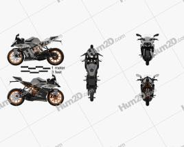KTM RC 200 2014 Motorrad clipart
