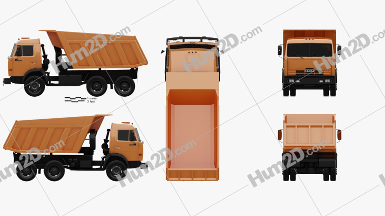 Kamaz 5511 Dump Truck 1977 clipart