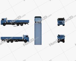 Kamaz 65117 Flatbed Truck 2014