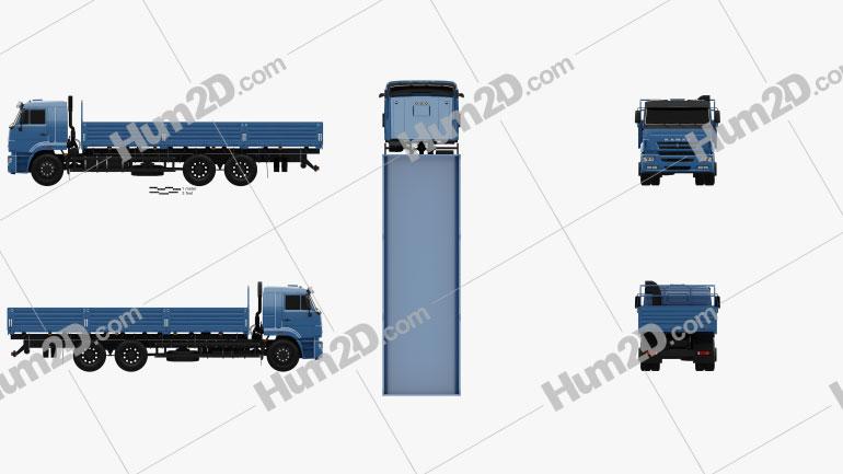 Kamaz 65117 Flatbed Truck 2014 clipart