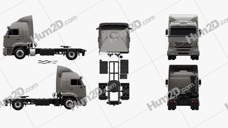 KamAZ 5460 Tractor Truck 2010 clipart