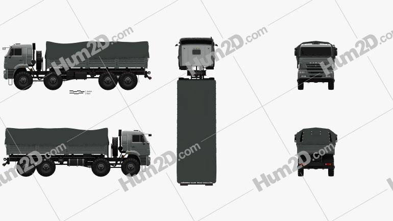 Kamaz 63501 Mustang Truck 2011 clipart