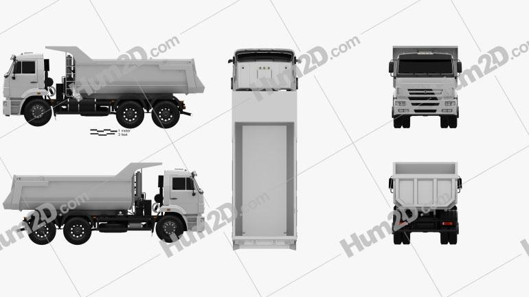 Kamaz 6520 Tipper Truck 2009 clipart