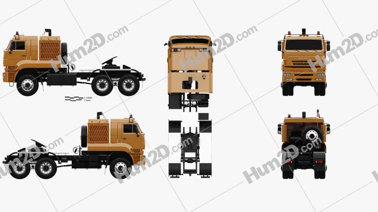 KamAZ 65226 Tractor Truck 2010 clipart