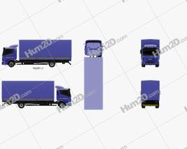 KamAZ 5308 A4 Box Truck 2013