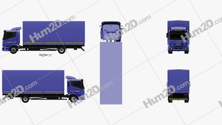 KamAZ 5308 A4 Box Truck 2013 clipart