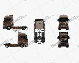 KamAZ 5490 S5 Tractor Truck 2014 Clipart