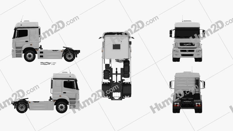 KamAZ 5490 T5 Tractor Truck 2015 clipart