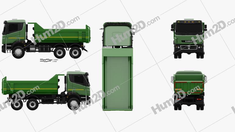 Kamaz 65802 Dumper Truck 2013 clipart