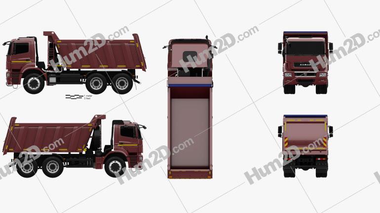 KamAZ 6580 K5 Dump Truck 2016 clipart