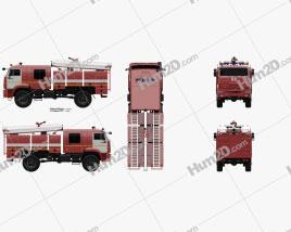 KamAZ 43502 Fire Truck 2017 clipart