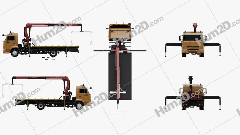 KamAZ 658625-0010-03 Tow Truck 2018 clipart