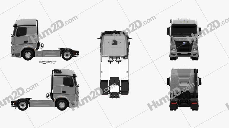 KamAZ 54901 Tractor Truck 2018 clipart