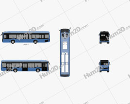 KamAZ 6282 Bus 2018 clipart