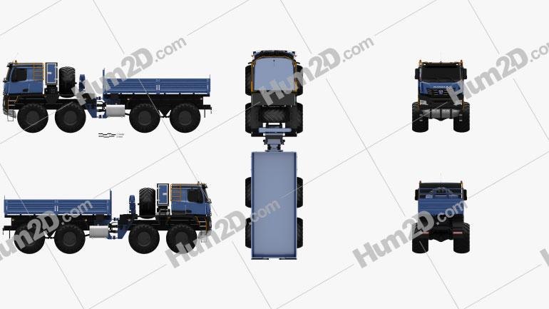 KamAZ 6355 Arctica Truck 2019 Clipart Image
