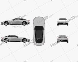 Karma Pininfarina GT 2020 car clipart