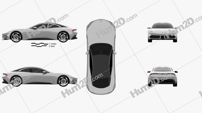 Karma Pininfarina GT 2020 Clipart Image