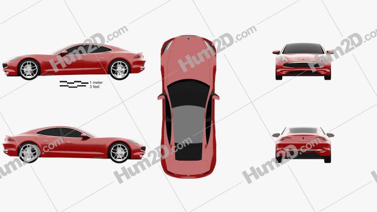 Karma Revero GT 2020 car clipart