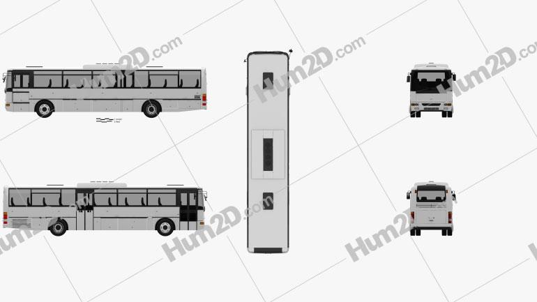 Karosa Recreo C 955 Bus 1997 clipart