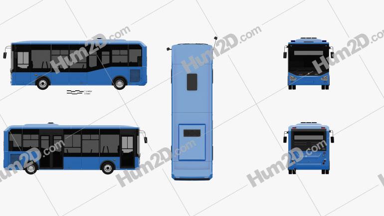 Karsan Atak Bus 2014 Clipart Image
