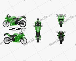 Kawasaki Ninja 250R Motorcycle clipart