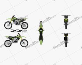 Kawasaki KX250F 2012 Motorcycle clipart