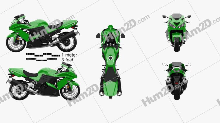 Kawasaki Ninja ZX-14R 2012 Clipart Image