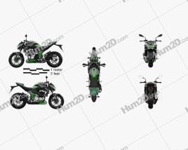 Kawasaki Z800 2014 Motorcycle clipart