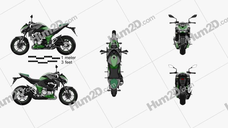 Kawasaki Z800 2014 Clipart Image